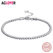 2019 <b>AGLOVER Classic Simple Small</b> Round Ball Bead Bracelet ...