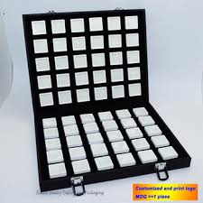 Superior Leatherette Gem Storage Box Diamond Display Case ...