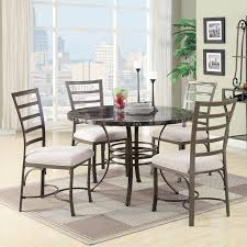 marble dining room table darling daisy: acme furniture daisy  piece round faux marble dining table set white bk