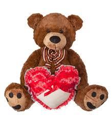 "<b>Мягкая игрушка</b> ""<b>Медведь</b> с бантом и сердцем"" (60 см) | www.gt-a.ru"