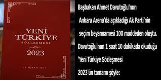 AKP'nin  2016 seçim  beyannamesi
