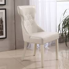 faux leather cream dining chairs parson creamy white faux leather dining chairs set of
