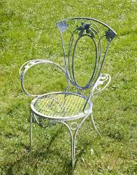 wrought iron chair antique rod iron patio