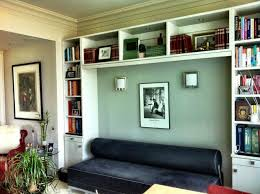 shelving creates an alcove modern home office alcove office