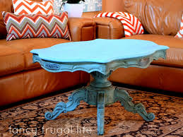 fancy frugal coffee table makeover chalk paint coffee table