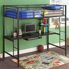 Loft Bed With Sofa Bunk Bed With Desk Underneath Home Painting Ideas
