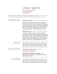 free resume template microsoft word resume outline template skills    free resume template microsoft word resume outline template skills experience   professional summit