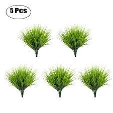 <b>5pcs</b>/<b>set Artificial Grass Plant</b> Decorative Bendable Fake Plant Fake ...