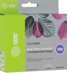 <b>Картридж Cactus</b> CS-LC980M, пурпурный, для струйного принтера