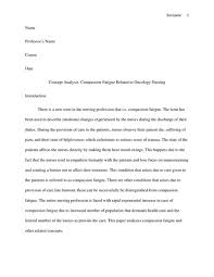 Compassion Fatigue Related to Oncology Nursing Research Paper example