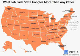 this map shows the job googled more in each state than anywhere google job searches by state 1