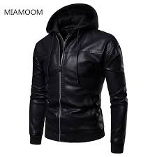 <b>Men Leather Jackets</b> Coats New Arrival PU <b>Hooded Leather Jacket</b> ...