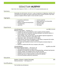 sample aircraft mechanic resume template resume sample information sample resume template for aircraft mechanic experience