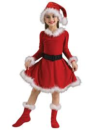 <b>Christmas Girls Children</b> Party Costume Santa Claus Red Cute ...