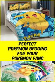 Pokemon Bedroom Decor Pokacmon Bedding Are The Coolest