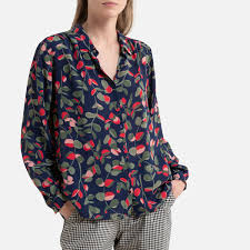 <b>Блузка LaRedoute С</b> рисунком и длинными рукавами 38 (FR) - 44 ...