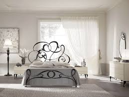 black contemporary wrought iron bed with headboard in white bedroom interior with single iron bed frame bedroom endearing rod iron
