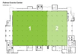 palmer events center   floor plan diagramspalmer exhibit halls