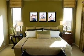 bedroom ideas couples: bedroomstylish bedroom decor for couples in warm green for limited space interesting bedroom decor