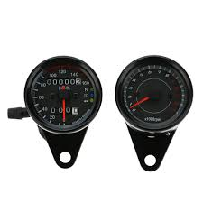 <b>12V Motorcycle</b> Backlit <b>Speedometer Odometer</b> Tachometer <b>Speed</b> ...