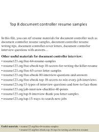 top  document controller resume samplestop  document controller resume samples in this file  you can ref resume materials for