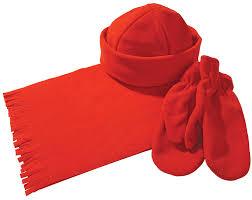 Комплект Unit Fleecy: <b>шарф</b>, <b>шапка</b>, <b>варежки</b>, красный (артикул ...