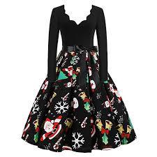 Hengshikeji Women Sexy V Neck Vintage Dress Long ... - Amazon.com