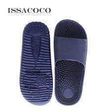 <b>ISSACOCO</b> 2019 <b>Men's</b> Flat Indoor Massage <b>Slippers Men</b> Home ...