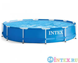 <b>Каркасный бассейн Intex</b> Metal Frame 366х76 см (28210) | 24intex.ru