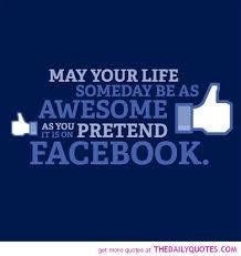 Pretend On Facebook - The Daily Quotes via Relatably.com