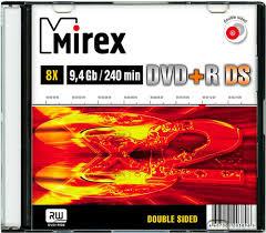 <b>DVD</b>+<b>R диск</b> Mirex <b>Double</b> Side 9.4GB 8x (203896)