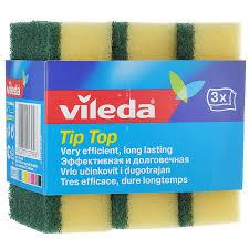 "<b>Набор губок для посуды</b> Vileda ""Тип-Топ"", цвет: желтый, зеленый ..."