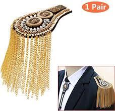 Tassel Chain Epaulet Shoulder Boards Badge Blazer ... - Amazon.com