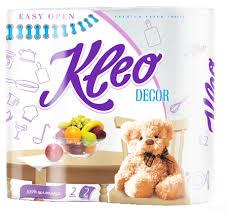 <b>Полотенца бумажные Kleo Decor</b> белые с рисунком двухслойные
