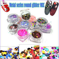 1 box holographic nail sequins colorful series mixed size nails powder glitter flakies paillette 3d art decoration in