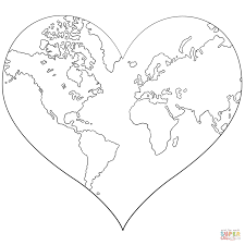 Small Picture Heart Shaped Earth coloring page Free Printable Coloring Pages