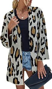 ECOWISH Womens <b>Color Block Striped</b> Draped Kimono Cardigan ...