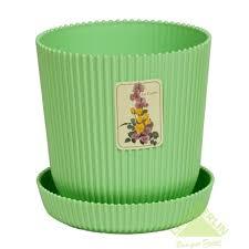 <b>Горшок цветочный с поддоном</b> Le Gaufre, диаметр 11,5 см, цвет ...