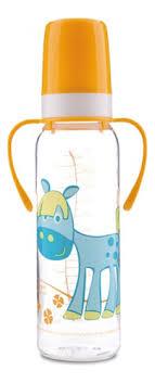 <b>Бутылочка тритановая с ручками</b> (BPA 0%) Cheerful animals 12+ ...