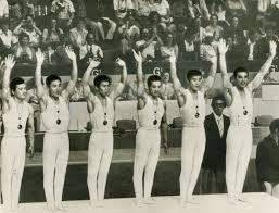 「1960年 - ローマオリンピック男子体操団体総合で、日本が初の金メダルを獲得」の画像検索結果