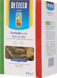<b>De Cecco</b> паста фарфалле триколоре №93, 500 г