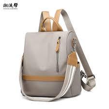 2019 Fashion Woman <b>Backpack Waterproof Nylon</b> Soft Handle ...