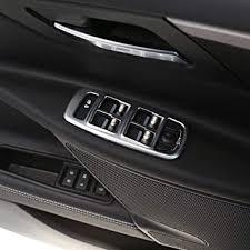 4pcs <b>ABS Matte Chrome</b> Car Door Window Button Panel Cover <b>Trim</b> ...