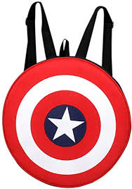 Auxter Red Polyester 20L Avengers <b>Captain America Shield</b> School ...