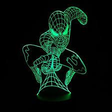 <b>Marvel</b> Superhero <b>Spiderman 3D</b> Table Lamp Optical Illusion Night ...