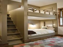 awesome modern adult bedroom decorating ideas feature great king size light grey bunk beds white bedcovers and wooden straight staircas awesome modern adult bedroom decorating ideas