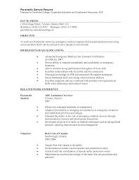 sample resume entry level firefighter resume of starting resume resume for emt sample resume for emt job emt paramedic resume paramedic resume objective paramedic resume