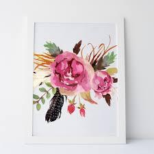 Etsy Art Printable Art Rustic Flower Print Floral Print Floral Art