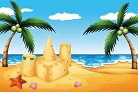 Amazon.com : <b>Yeele</b> 9x6ft Cartoon Beach Photography Backdrop ...