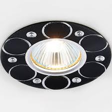 Точечный <b>светильник Ambrella Light A808</b> BK/AL - купить ...
